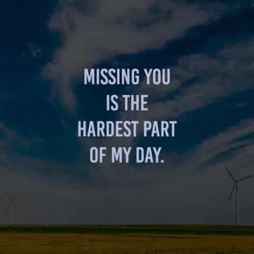 Missing you quotes and I miss you messages