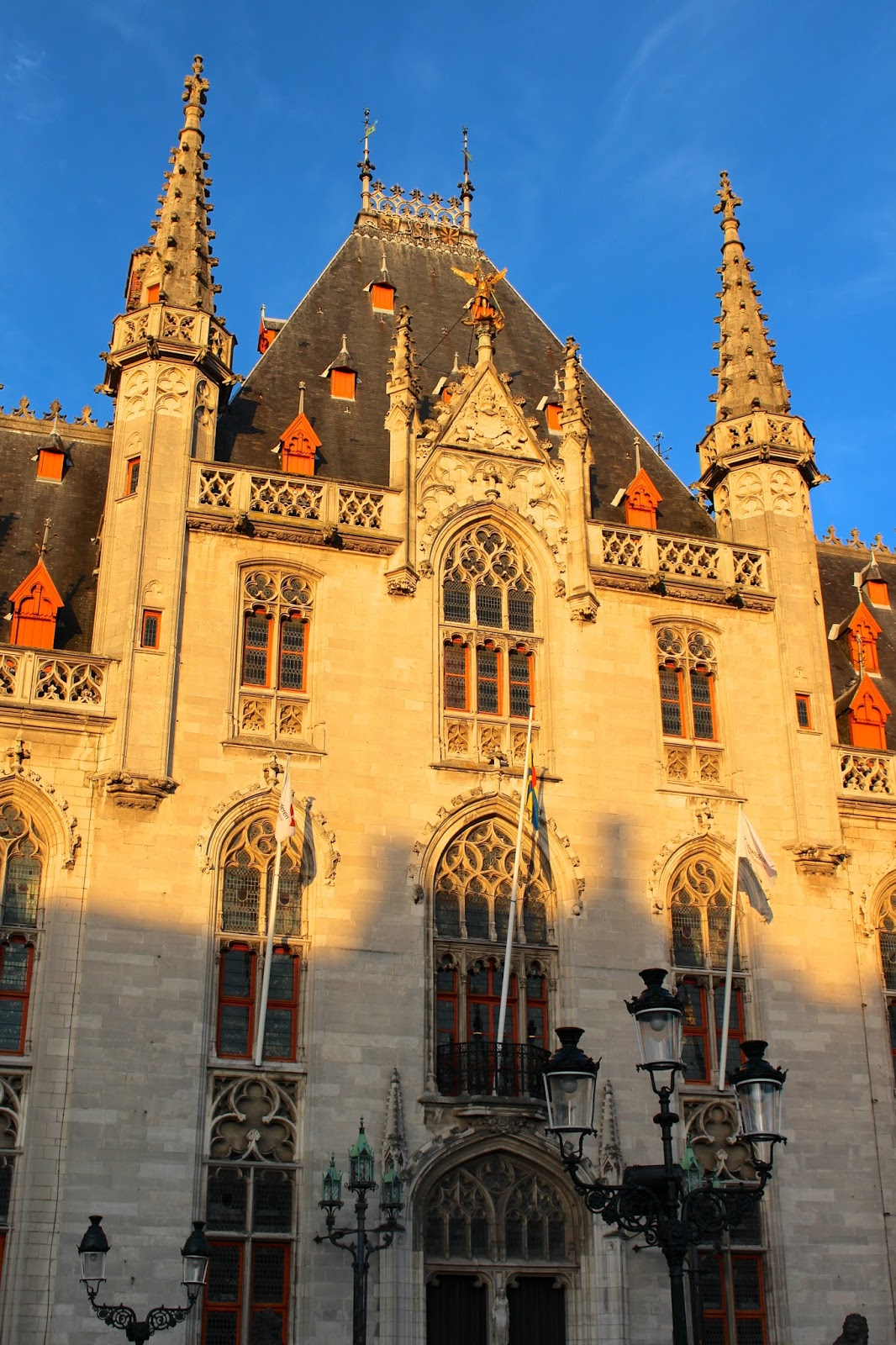 Sunset photography of historic city Bruges