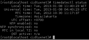 How to set local time on Archlinux