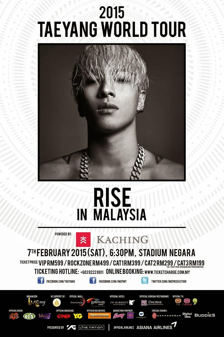 Taeyang World Tour 2020 Pelancongan Kini   Malaysia (Malaysia   Tourism Now): 2015 Taeyang