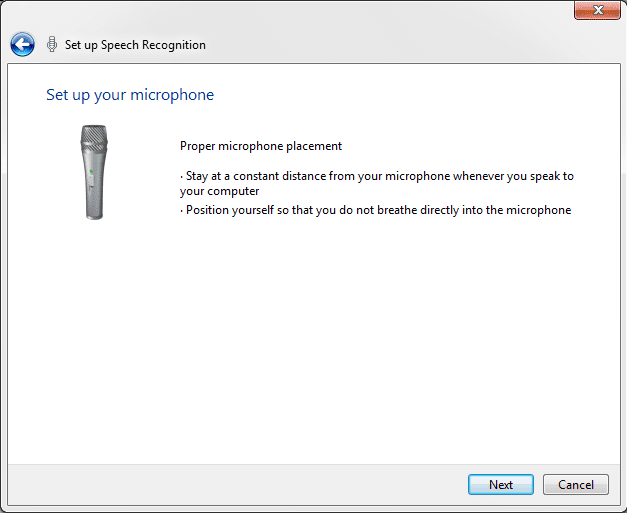 setup Windows Speech Recognition Control PC with voice