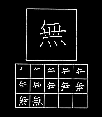 kanji tanpa, tidak