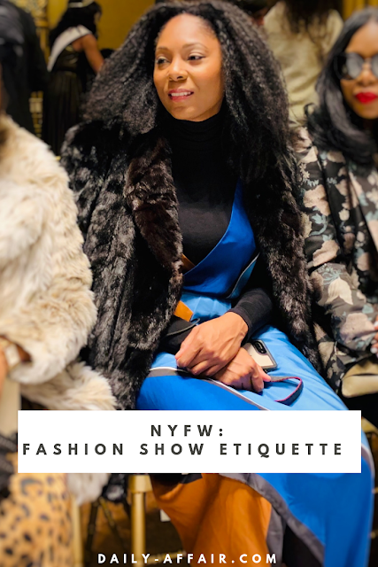 Fashion Show Etiquette: what to do if you sit front row