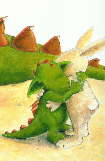 Kinderbuchillustration, kleiner Drache, hug me, dragon, children's book illustration