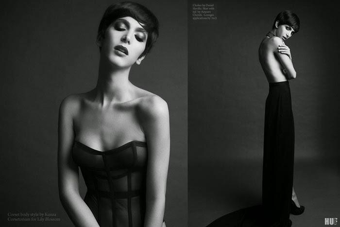 huf magazine featuring corsetorium bespoke corset luxury lingerie in london and spain