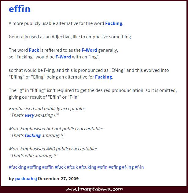 Arti You Effin Rock Dalam Bahasa Inggris