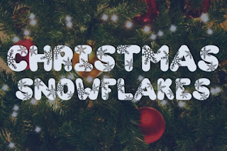 Image to get  Free Commercial font called Christmas snowflake