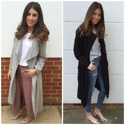 transitional dressing... LOOSE TRENCH COAT