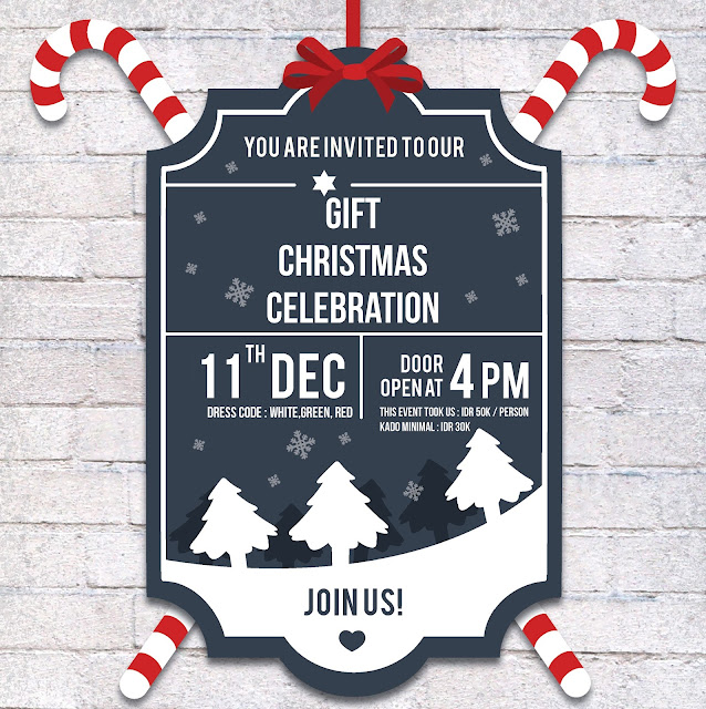 Design GIFT cellgroup Christmas invitation