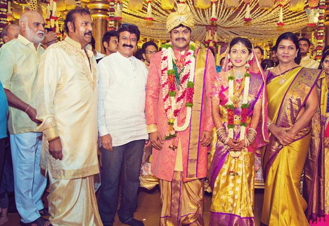Vijaya Nirmala, Krishna, Naresh , Andy Srinivasan., Manoj Manchu and Pranathi Reddy Wedding Pics