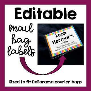Editable Labels for Mailbags