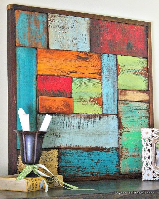 DIY Διακοσμητικά τοίχου από ξύλα παλαιωμένης όψης