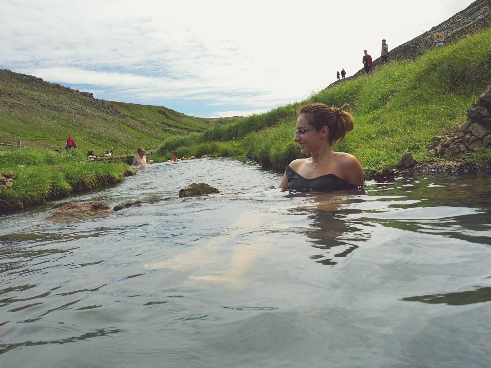 Gorąca rzeka Reykjadalur, Islandia, Południowa Islandia, Hvergerdi, gorące źródła, źródła geotermalne, kąpiel w gorącej rzece