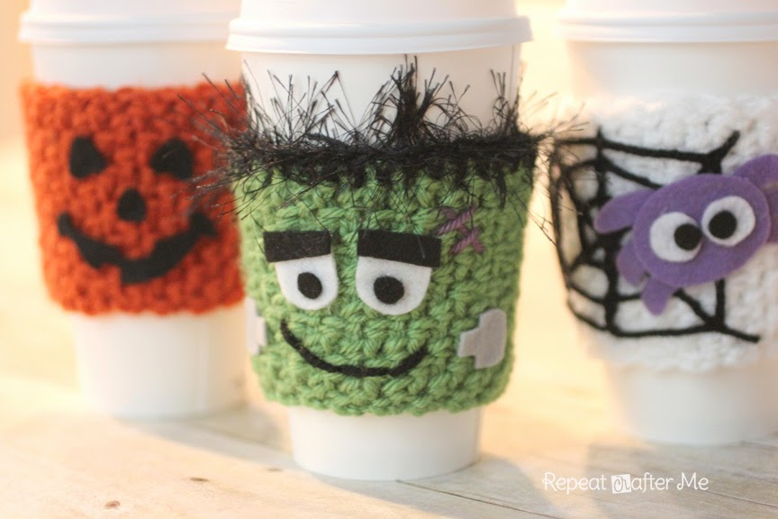 Halloween Crocheted Cup Cozy Pattern Repeat Crafter Me