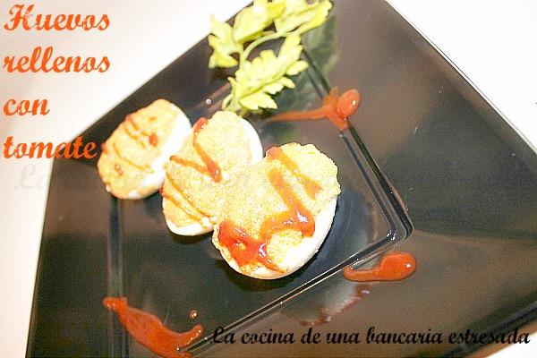 Receta de huevos rellenos con atún y tomate paso a paso