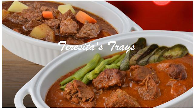teresita's, Beef caldereta, Kare-Kare