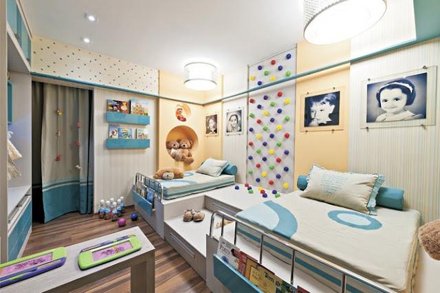 Dormitorios para ni o y ni a - Dormitorios infantiles mixtos ...