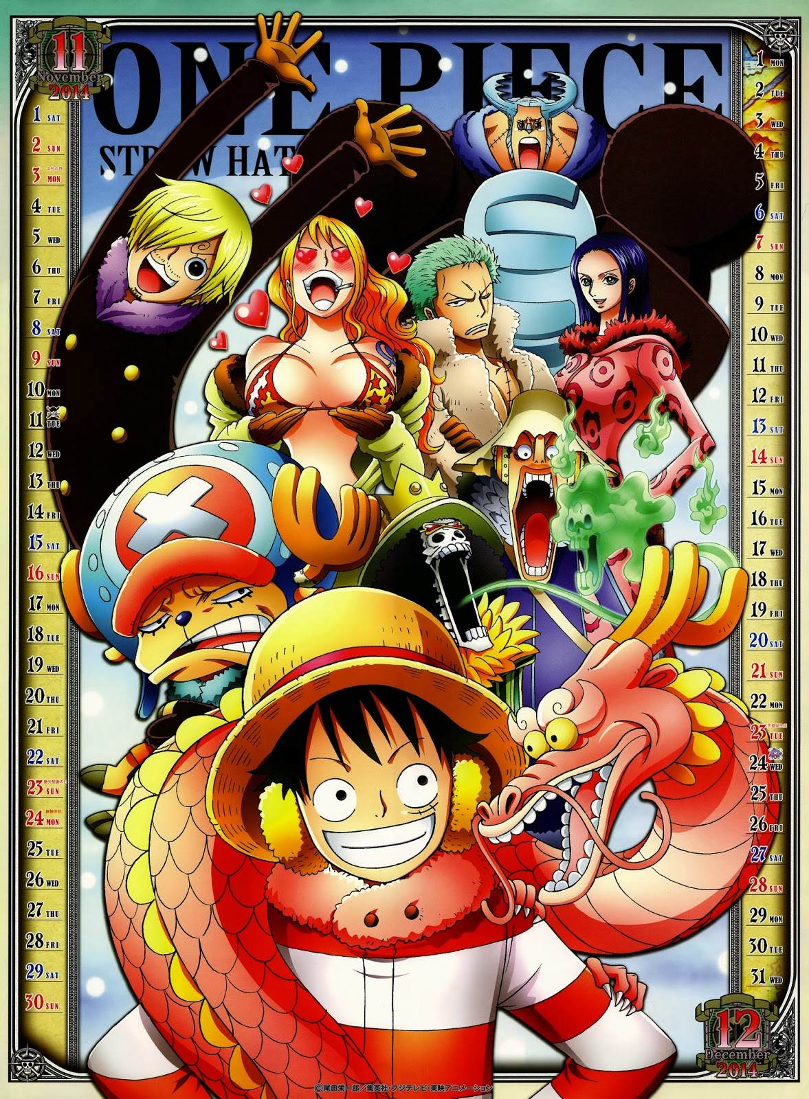 One Piece November/December 2014 Anime, One piece