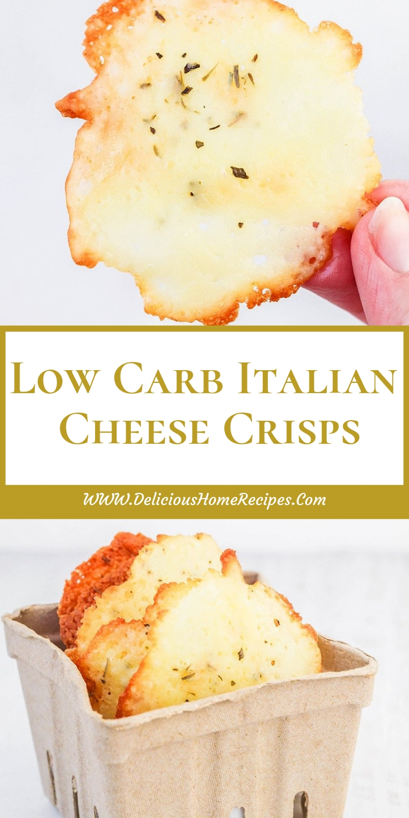 Low Carb Italian Cheese Crisps