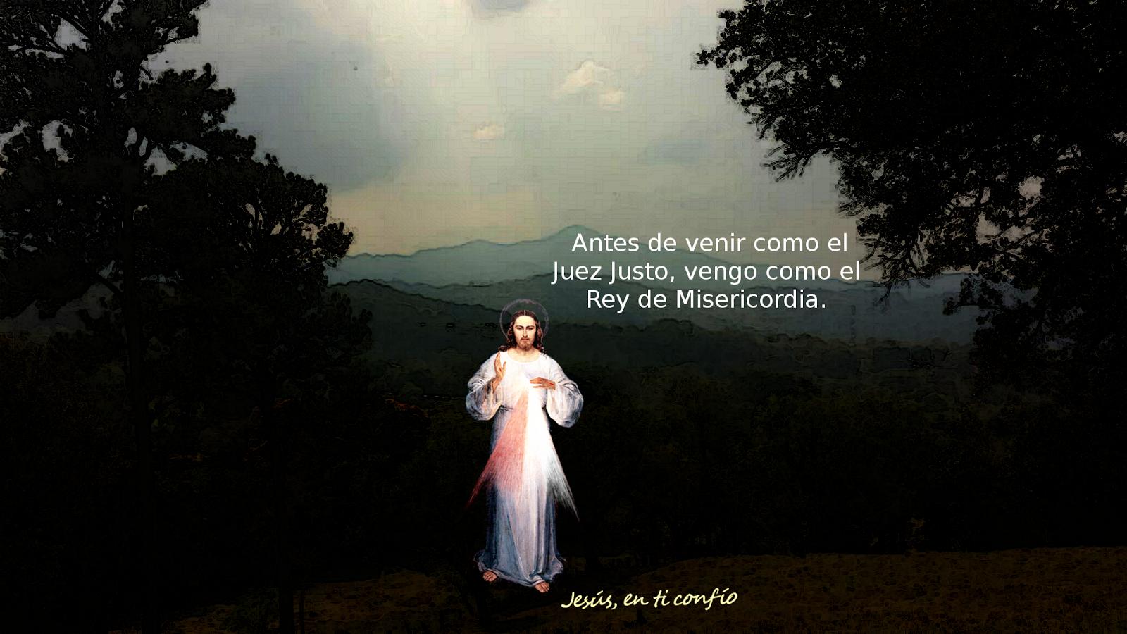 jesus con mensaje de misericordia