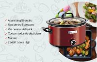 Castiga un Slow cooker Crock Pot SCV400RD- 050, 3.5L