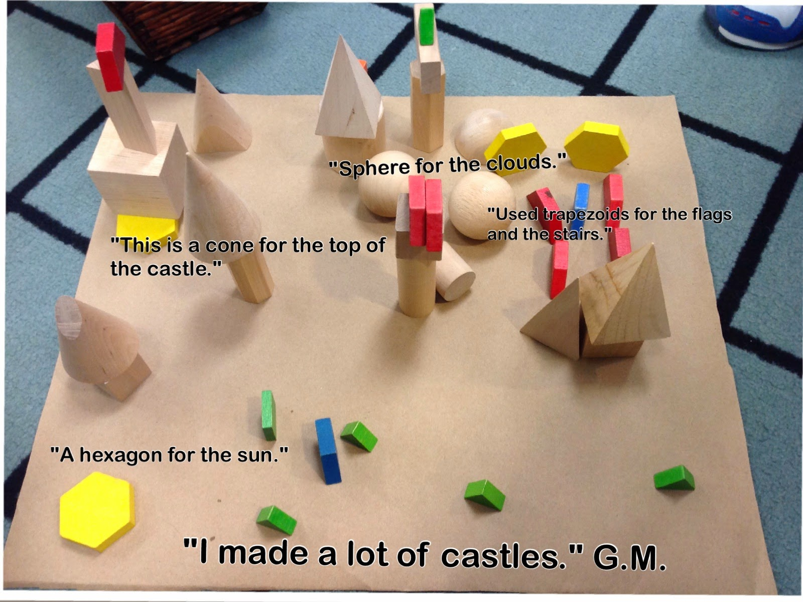 Wonders In Kindergarten Building Structures With 3 Dimensional Figures