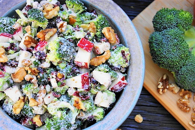 Broccoli Salad with Apples and Walnuts Image