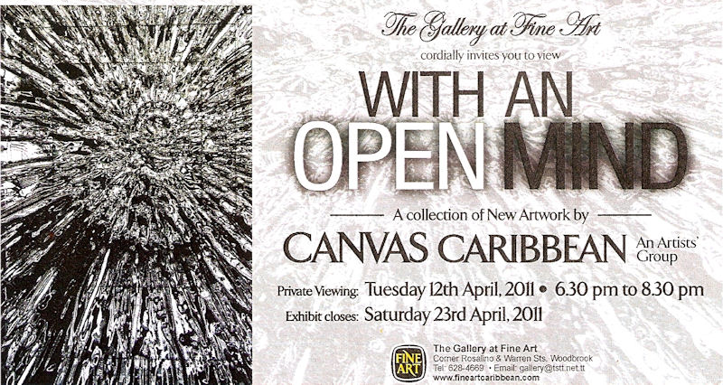 The Art Of Our Lives Canvas Caribbean With An Open Mind