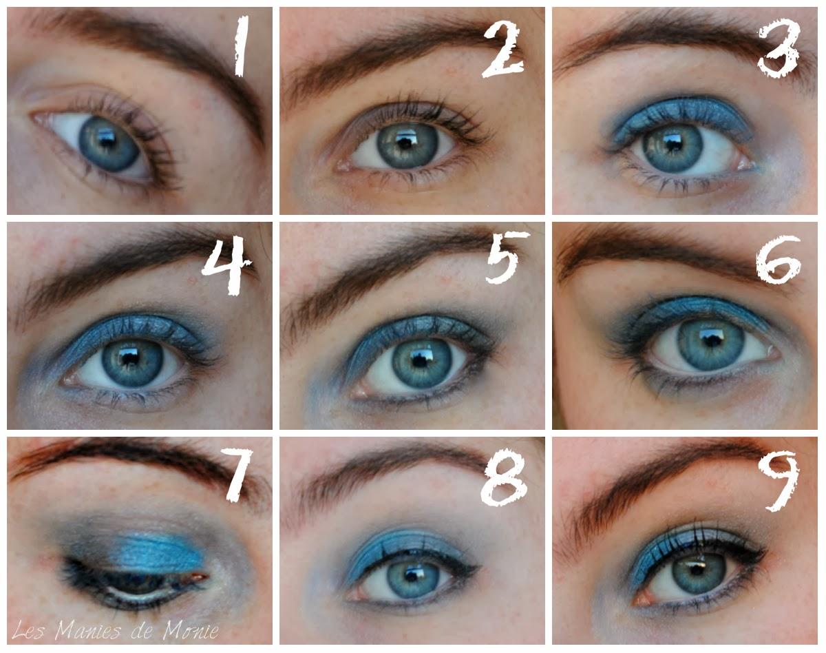 harmony lu un maquillage bleu sur des yeux bleus m me pas peur. Black Bedroom Furniture Sets. Home Design Ideas