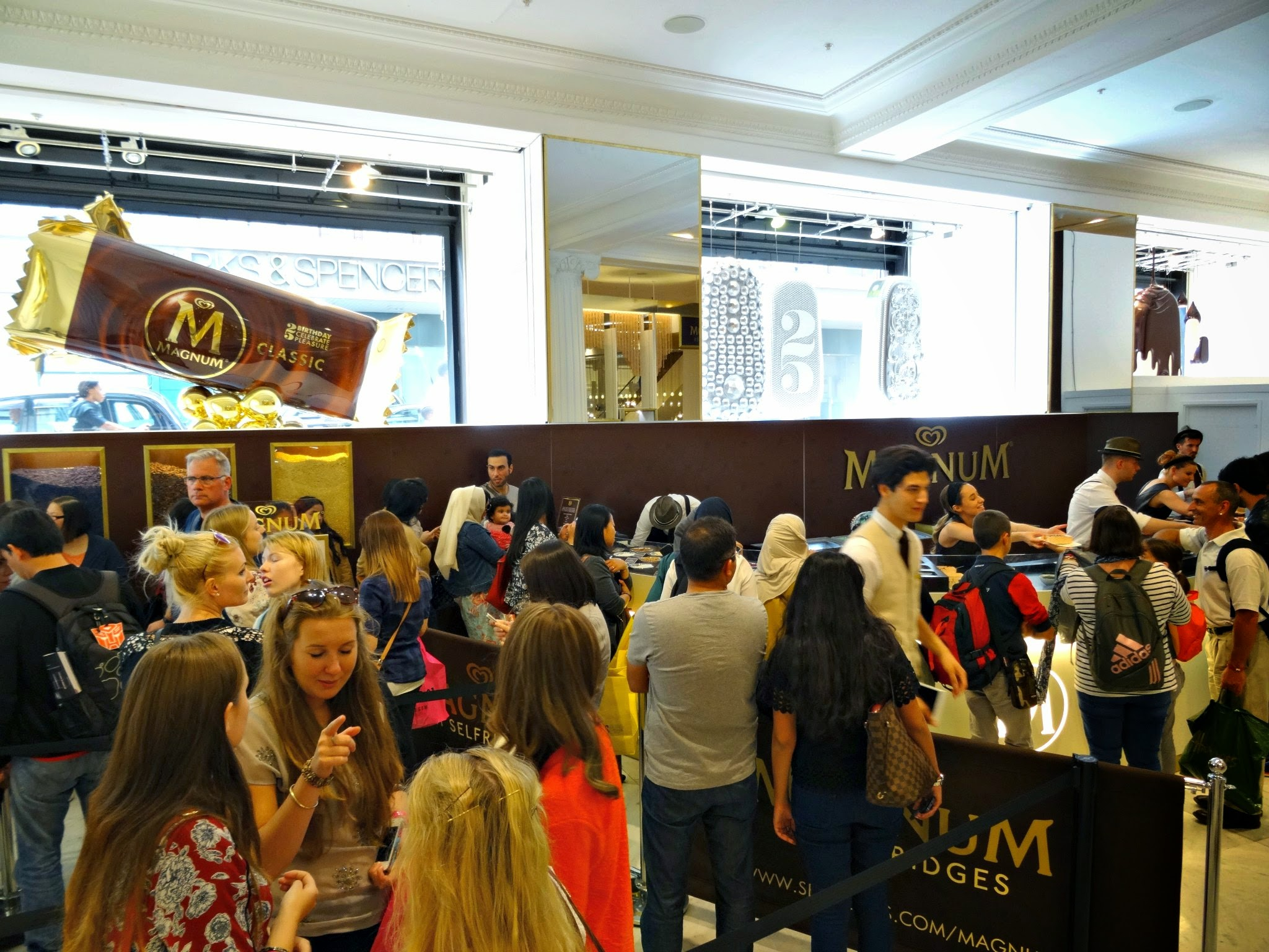 Magnum experience at selfridges London