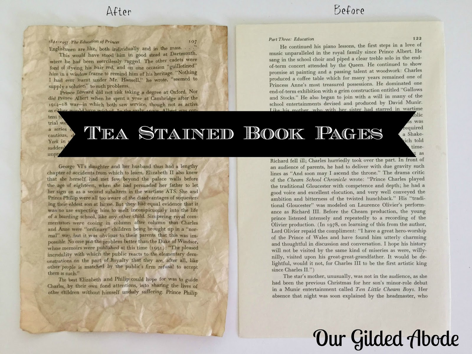 {TUTORIAL} How To Make Book Pages Look Old