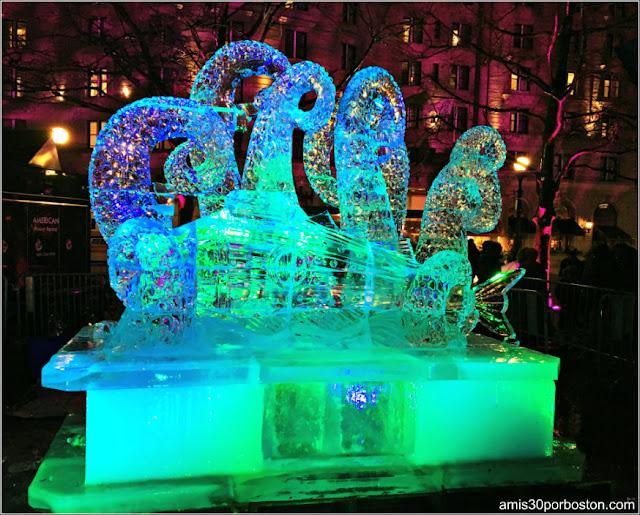 Escultura de Hielo: Tentáculos