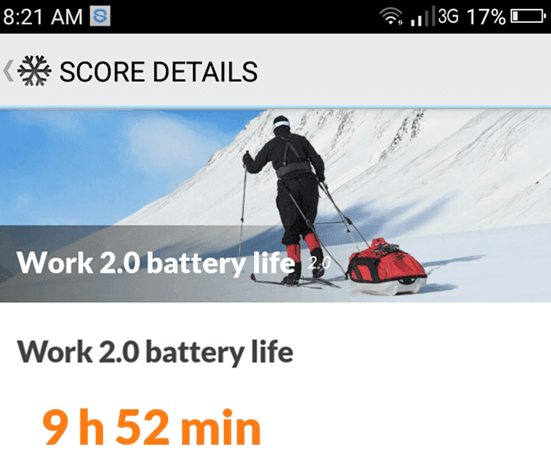 Good enough battery score