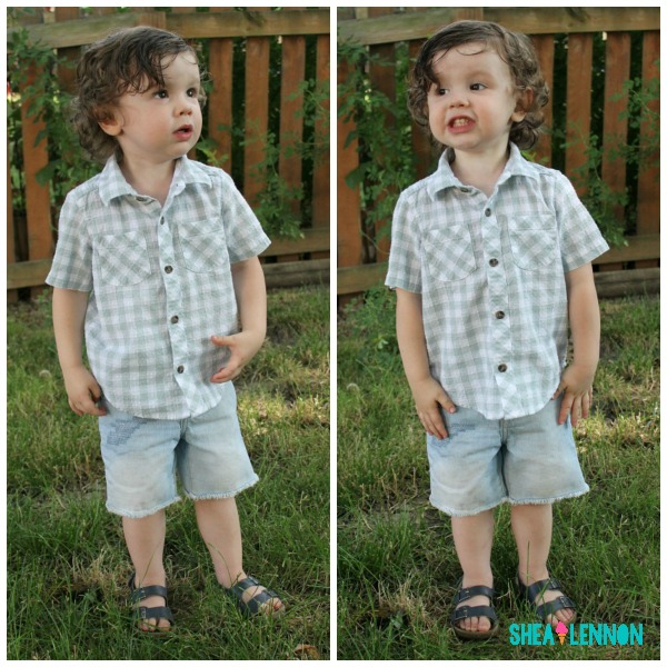 For my toddler, I've been looking for a few staples that will get him through the summer. I love cut-off jean shorts and button-up shirts because they're so versatile. Click through for details and where to shop.