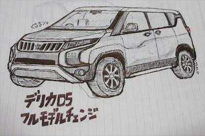 三菱自動車 新型デリカ:D5 フルモデルチェンジ最新画像