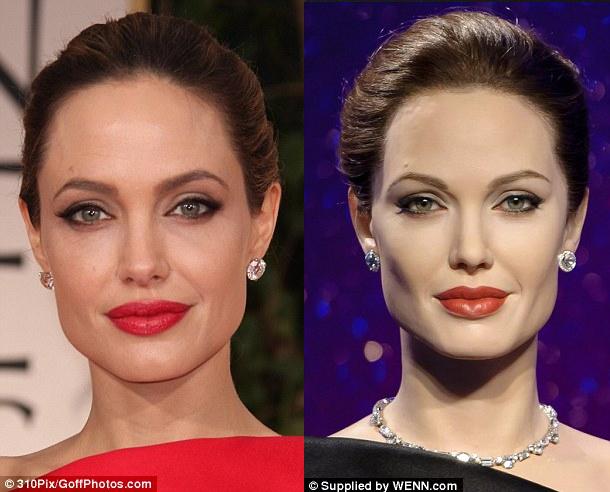 picture of Angelina Jolie waxwork