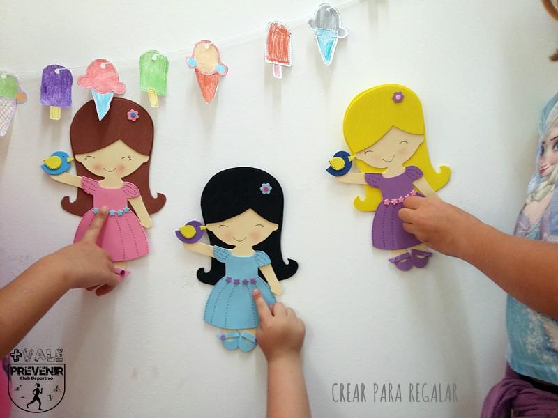 muñecas planas goma eva