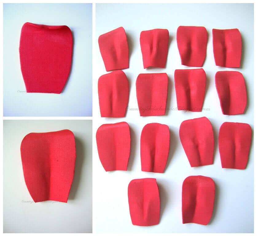 termoformado de los pétalos rosa de goma eva