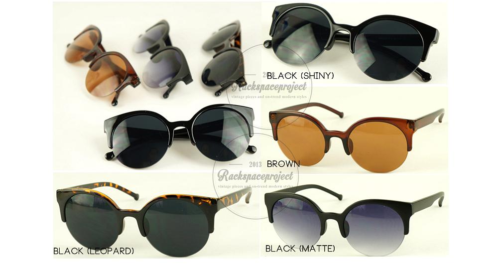 3c2facb3af7 AUG13AC0015   Semi-rim retro sunglasses  best selling item!