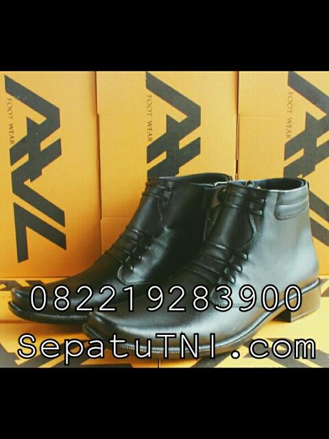 Sepatu PDH kulit doff sol hak merk AWL