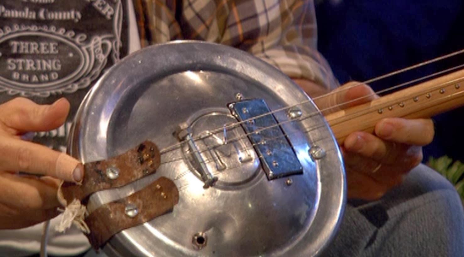 Morris Minor hubcap guitar and Seasick Steve on Top Gear, cut to
