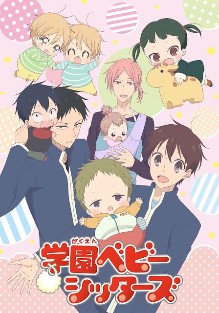 Anime de Gakuen Babysitters revela teaser e novo visual