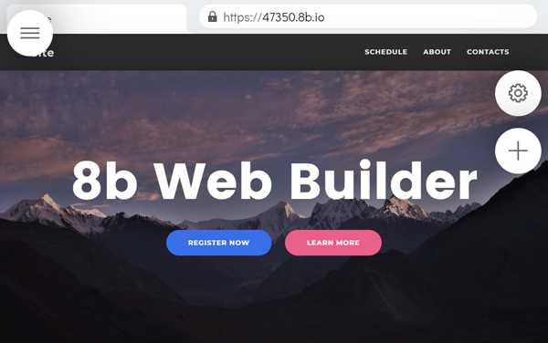 Start A Free Website With 8b