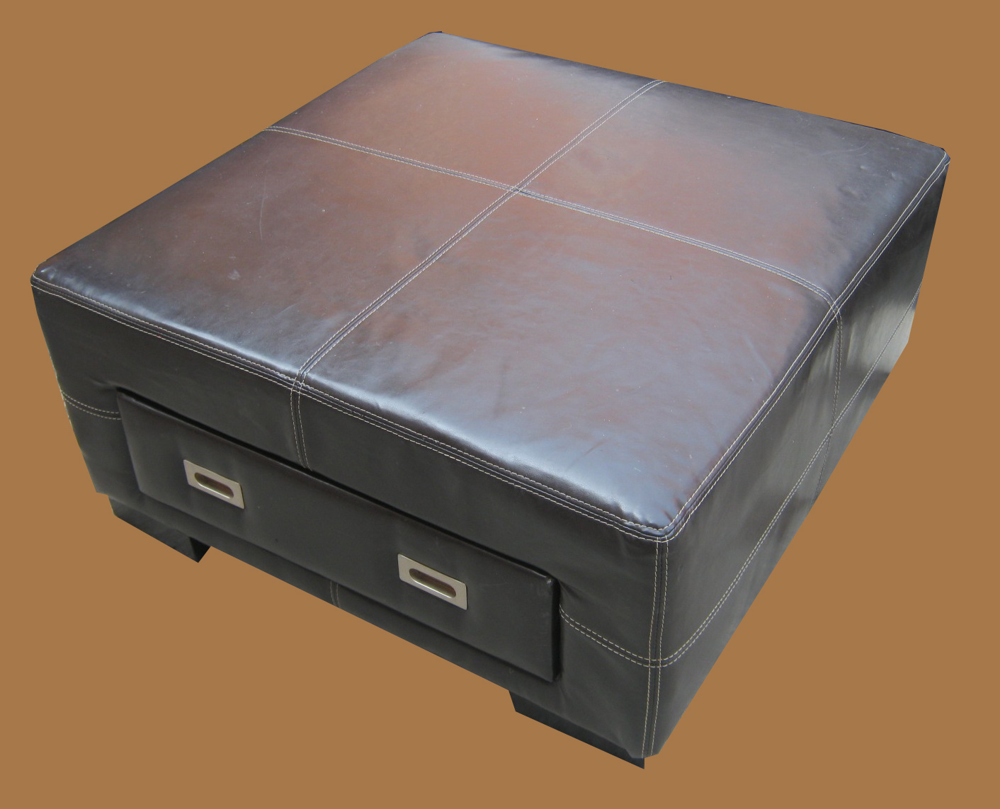 Uhuru Furniture Amp Collectibles Leather Ottoman W Drawer