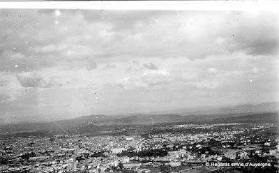 Photo ancienne noir et blanc de Clermont-Ferrand en 1931.