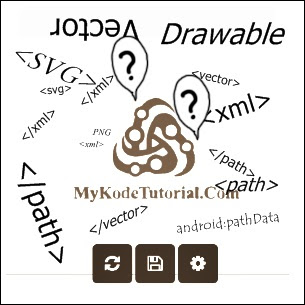 Convert PNG to Android VectorDrawable XML