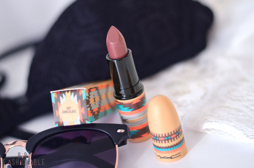 MAC Vibe Tribe Satin Lipstick Hot Chocolate offen 2