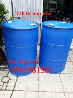 Thùng phuy nắp nhỏ, thùng phuy 220 lít, thùng phuy nhựa 220 lít giá rẻ