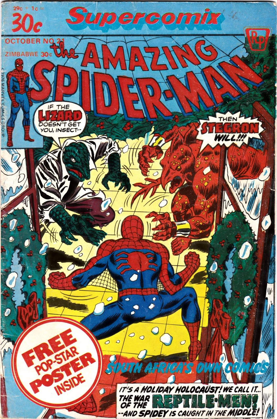 Supercomix Spiderman 21 Second Series 1978