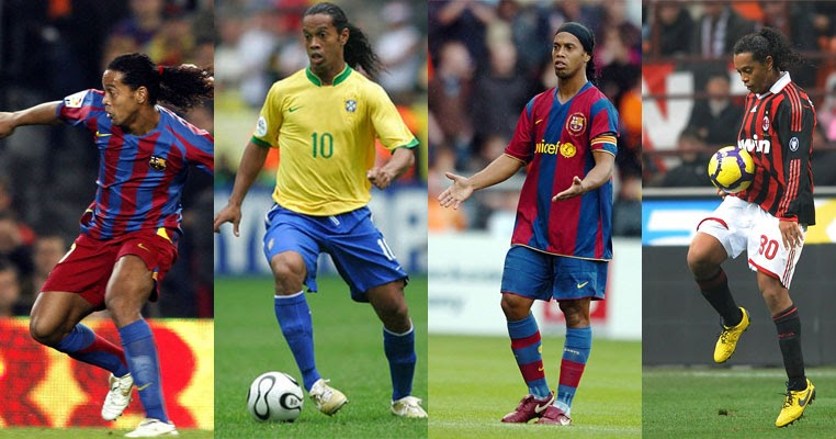 Ronaldinho Shoes Blue Gold